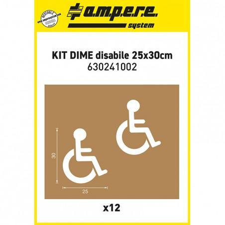 12 Sagoma per disabili 25x30cm